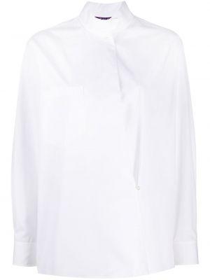 Белая рубашка с манжетами на пуговицах с длинными рукавами Ralph Lauren