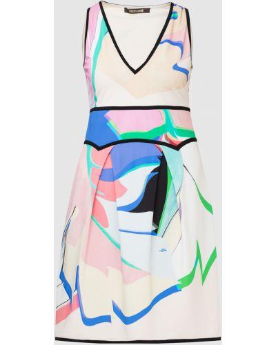 Белое платье миди Roberto Cavalli