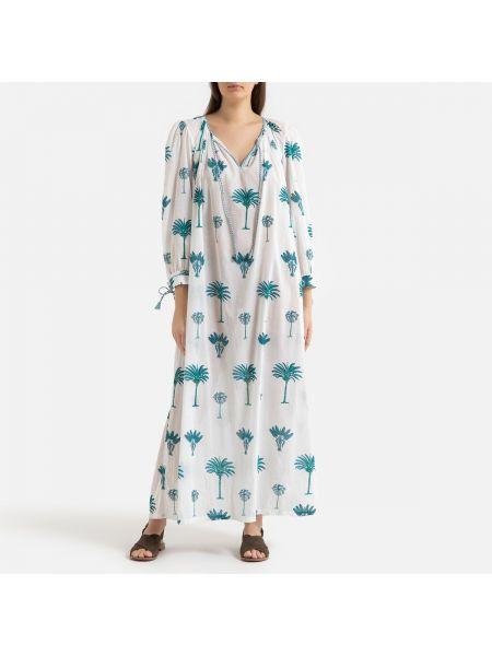 Платье миди с V-образным вырезом трапеция La Redoute