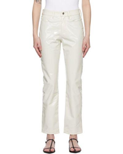 Czarny skórzany spodni spodnie Simon Miller
