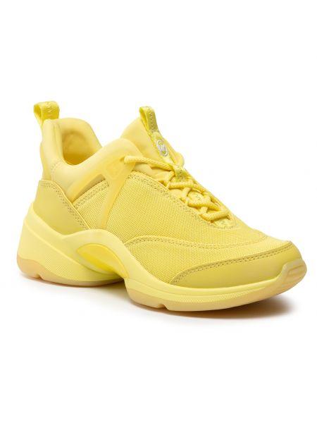 Buty sportowe skorzane - żółte Michael Michael Kors