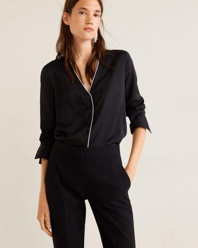 Блузка с длинным рукавом с V-образным вырезом прямая Mango