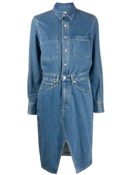 Платье миди джинсовое на пуговицах Rag & Bone