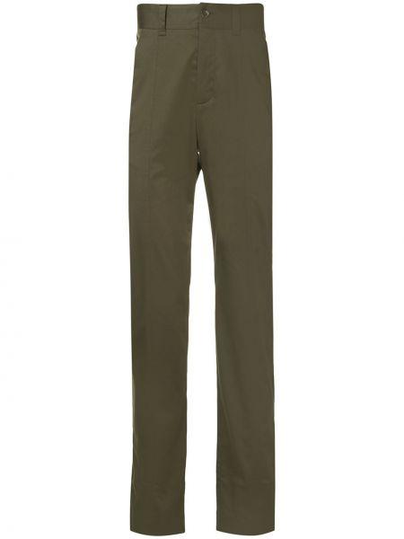 Зеленые брюки с карманами милитари с заплатками Cerruti 1881