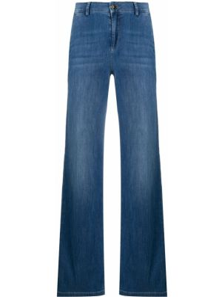 Широкие джинсы на пуговицах с карманами Liu Jo