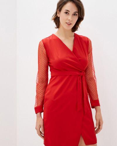 Красное платье с запахом Pink Summer