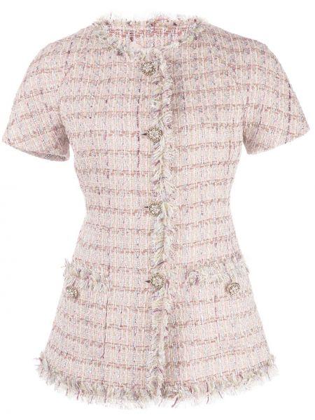 Розовый пиджак твидовый Brock Collection