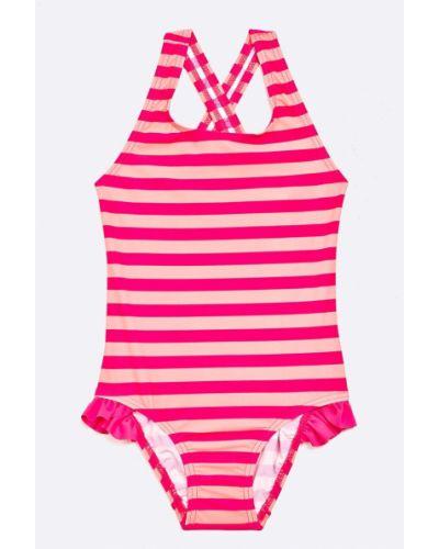 Слитный купальник розовый с узором Name It