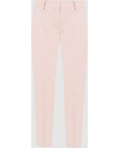 Розовые укороченные брюки Loro Piana