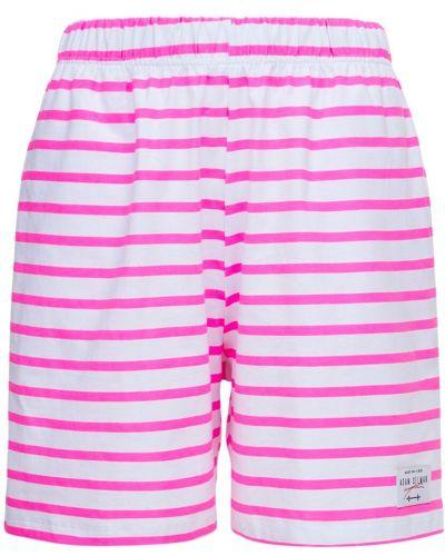 Розовые шорты в полоску Adam Selman Sport