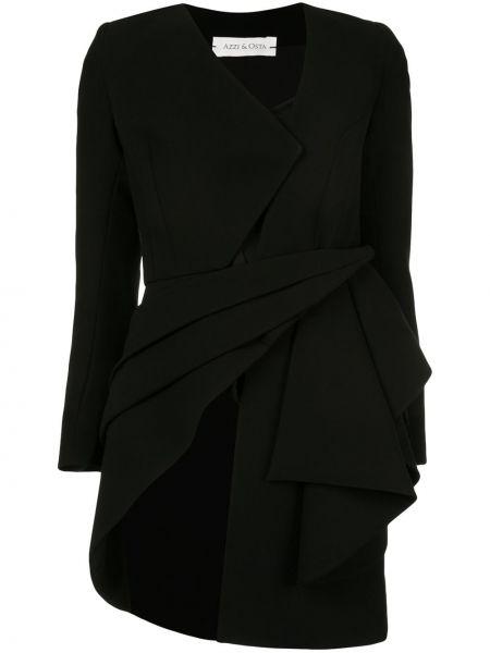 С рукавами черный пиджак Azzi & Osta