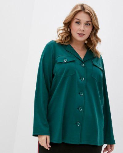 Зеленая рубашка с длинными рукавами Svesta