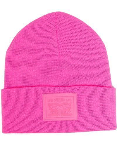 Вязаная шапка бини - розовая Levi's®