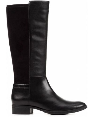 Кожаные сапоги на каблуке на каблуке Geox