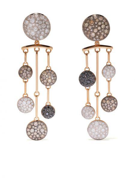 Czarne złote kolczyki sztyfty z diamentem Pomellato
