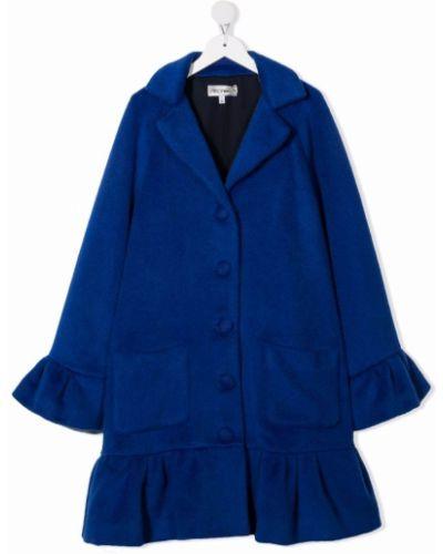 Niebieski płaszcz bawełniany Simonetta