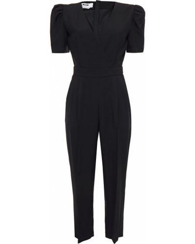 Черное платье на пуговицах Msgm