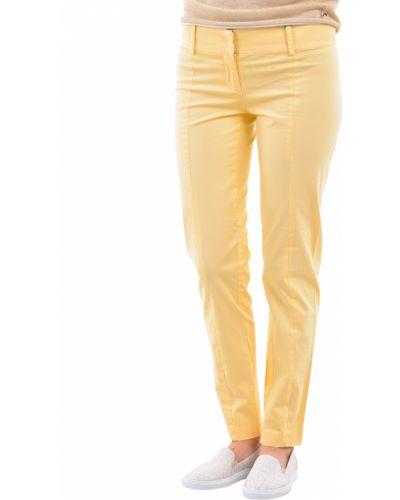 Желтые брюки хлопковые Patrizia Pepe