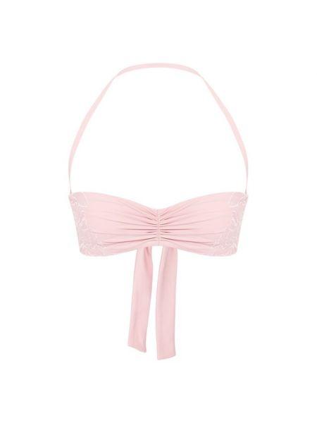 Розовый купальник бандо La Perla