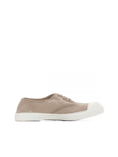 Бежевые кроссовки на шнуровке Bensimon