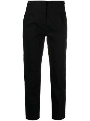Хлопковые черные укороченные брюки с поясом Tela