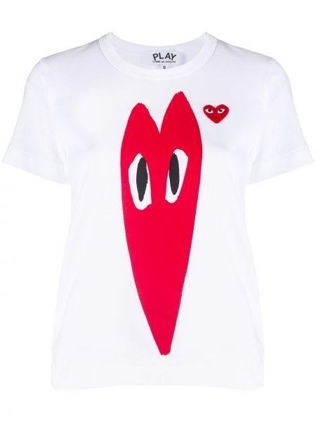Bawełna z rękawami koszula z logo okrągły Comme Des Garcons Play