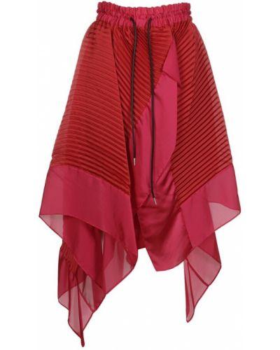 Czerwona spódnica Sacai