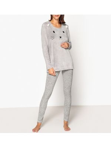 Пижама с брюками теплая пижамный La Redoute Collections