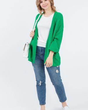 Вязаный кардиган оверсайз зеленый Lacywear