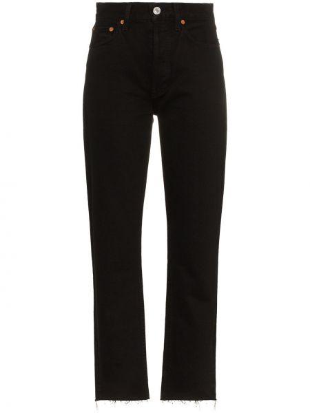 Хлопковые джинсы - черные Re/done