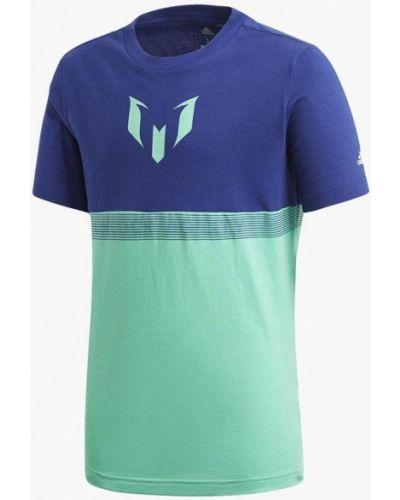 Футболка футбольный бирюзовый Adidas