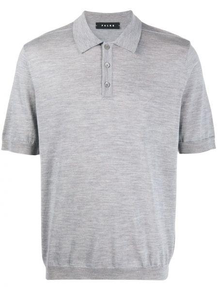 Klasyczna klasyczna koszula krótki rękaw wełniana Falke