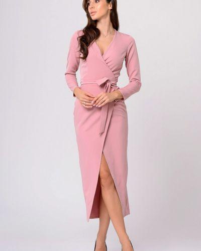 Вечернее платье осеннее розовое Lilove