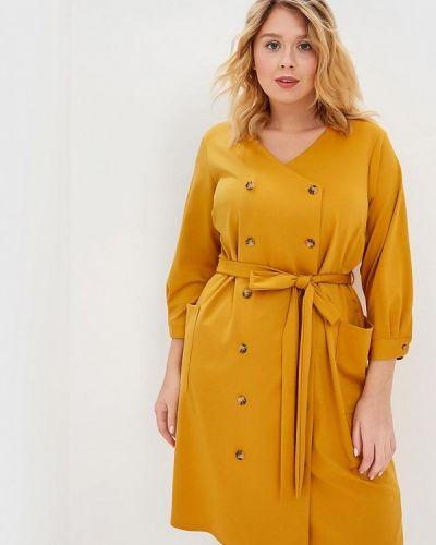 Повседневное платье весеннее желтый Dorothy Perkins Curve