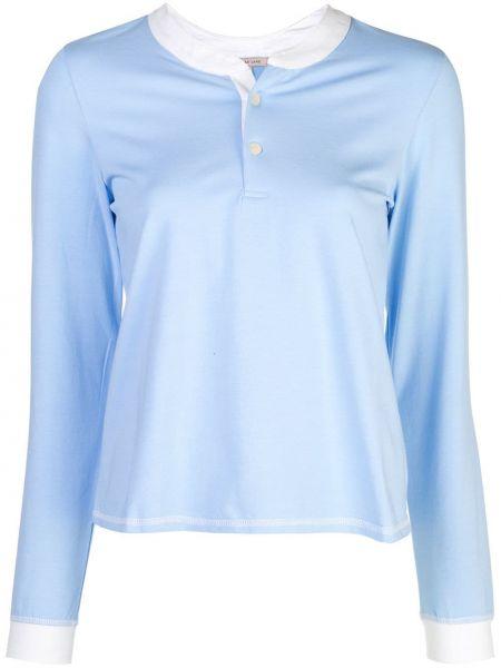 Синяя пижамная пижама с длинными рукавами на пуговицах Morgan Lane