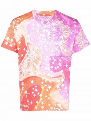 Różowa t-shirt z printem Erl