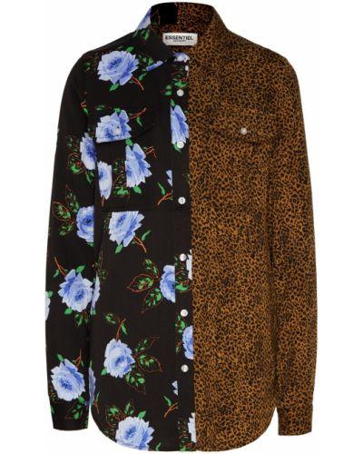Блузка с цветочным принтом из вискозы Essentiel Antwerp