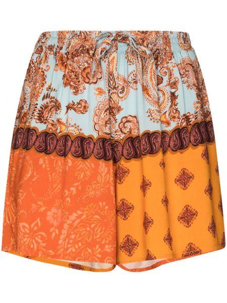 Прямые оранжевые шорты с поясом Esteban Cortazar
