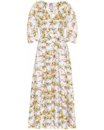 Желтое льняное платье миди винтажное Gül Hürgel
