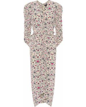 Платье миди с цветочным принтом шелковое Isabel Marant