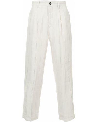 Прямые брюки с карманами в полоску Bergfabel