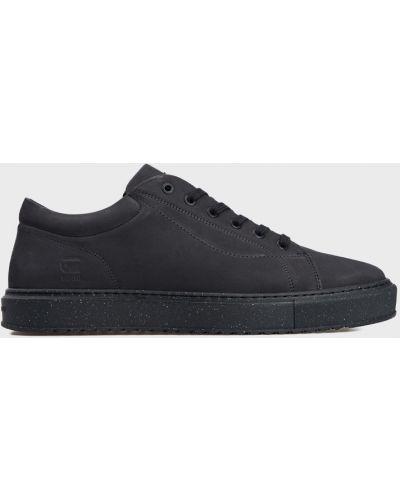 Кожаные кроссовки - синие G-star Raw