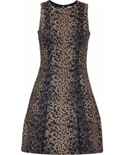Платье леопардовое с вырезом Michael Michael Kors