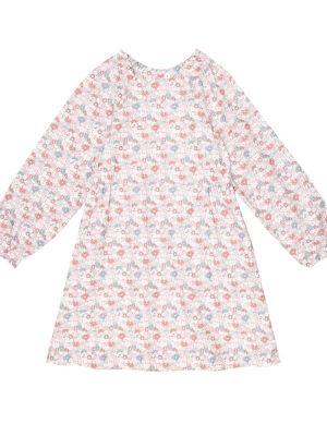 Хлопковое розовое платье с рисунком Bonpoint