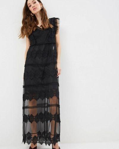 Вечернее платье весеннее черное Silvian Heach