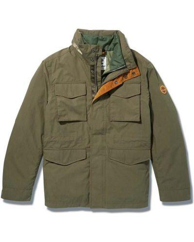 Хлопковая зеленая куртка с капюшоном Timberland