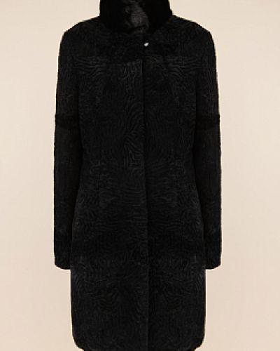 Пальто из овчины - черное Janifer