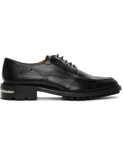 Кожаные черные оксфорды на шнуровке на каблуке Toga Virilis