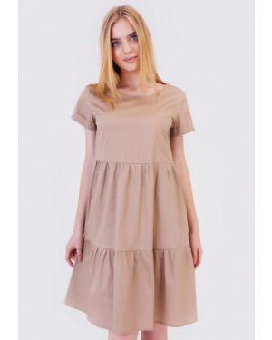 Бежевое платье Bessa