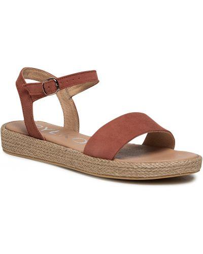 Sandały espadryle - różowe Ryłko
